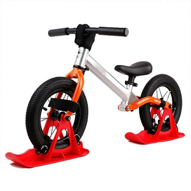 2 uds. Patinete de nieve de 12 pulgadas para niños, patinete de equilibrio, patinete, ruedas, trineo de esquí en nieve, Snowboard Luge patinaje, regalo para niños