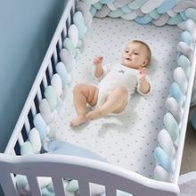 Crib-Protector Bumper Room-Decor Nursery Bed Knot Plush Newborns Baby Infant for Weaving