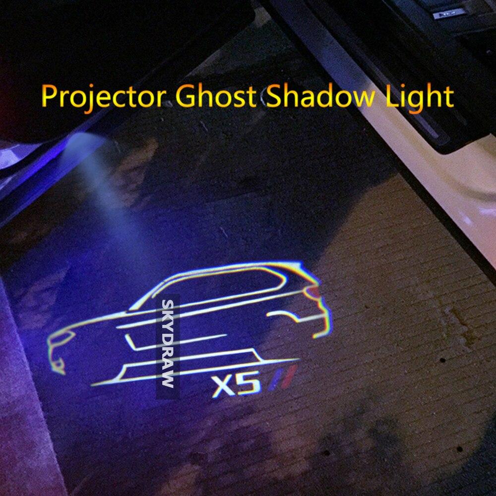 1 пара для X5 E70 F15 G05 F85 (2007-2021) автомобильная светодиодная дверная предупреждающая Лампа проектор Ghost Shadow Light Добро пожаловать Свет