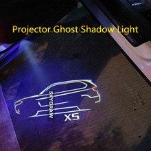 1 par para x5 e70 f15 g05 f85 (2007-2021) carro led porta luz de advertência projetor fantasma sombra luz bem-vinda luz
