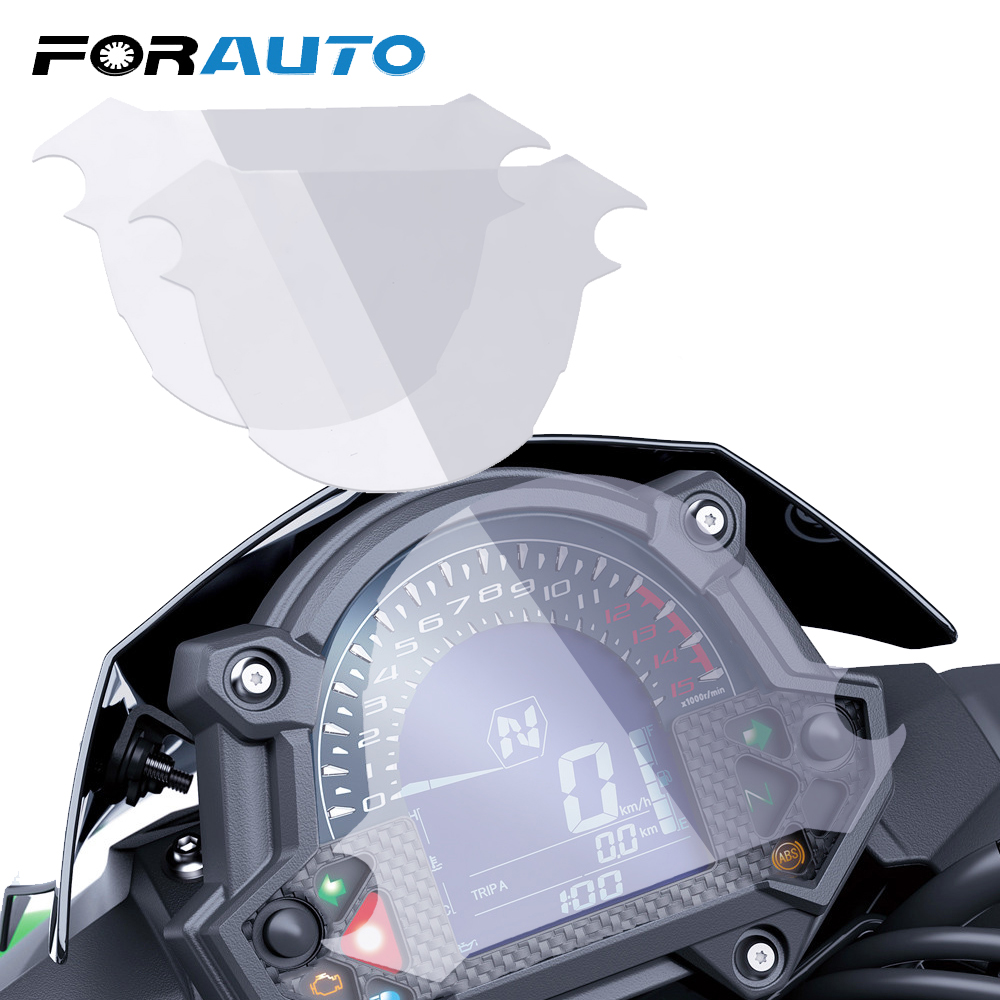 FORAUTO 2 шт мото инструмент Спидометр пленка протектор экрана наклейка для Kawasaki Z900 Z650 2017 кластер Защита от царапин