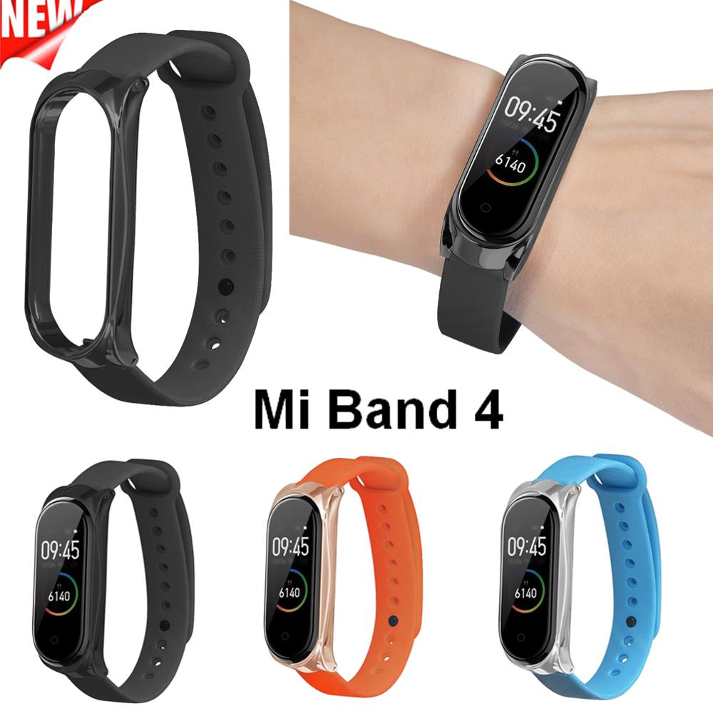 Smart Bracelet Watchband For Xiaomi Mi band 4 Strap Replacement Wrist Miband 4 Band Metal Case For Xiaomi Mi Band4 Watch Belt mi band 4 rosa