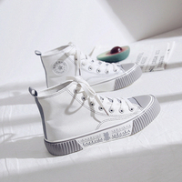 Frauen Leinwand Schuhe 2020 Neue Frauen Turnschuhe Atmungsaktiv Hohe Wohnungen Turnschuhe Casual Trendy Mischfarben Leinwand Weibliche Schuhe der-in Vulkanisierte Damenschuhe aus Schuhe bei