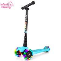 Promo Bicicleta Infantil 21. ° patinete con rueda destelleante para niños de 3 a 12 años, juguetes para exteriores, ruedas de triciclo Chico, Bicicleta de juguete deslizante