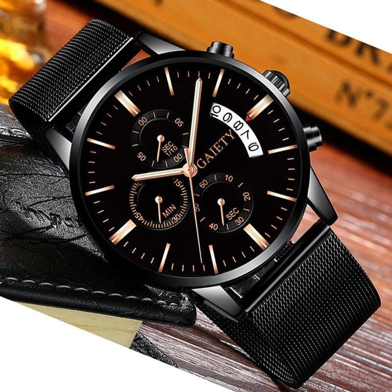Gaiety Brand Fashion Men Watches Top Brand Luxury Business Quartz Watch Men Casual Slim Mesh Steel Sport Watch Relogio Masculino