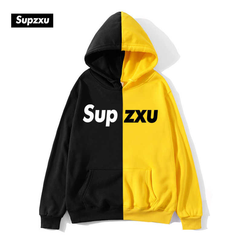 Unisex coat 2020 autumn winter Teen's Smiling Face Fashion Print Hoodie Sweatshirt Pullover Stitching color Brand Jackets