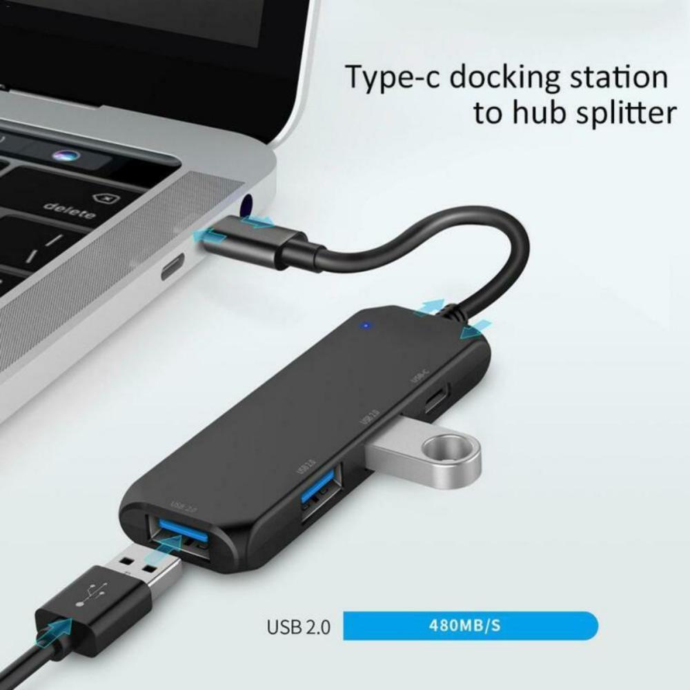 USB Type C HUB To 4K USB 2.0 Thunderbolt 3 Adapter Dex Station For Apple Macbook Pro 2017 Samsung Galaxy Note 8 S8 S9+