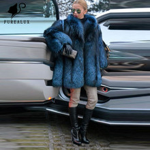 Top Quality Thick Warm Real Silver Fox Fur Coat Women Winter Full Pelt New Genuine Leather Jackets Outerwear Clothing Customized