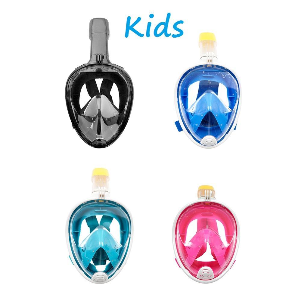 Children Full Face Snorkeling Mask for Diving kids Swimming Training Underwater Scuba Diving Mask Anti Fog Snorkel Diving Mask