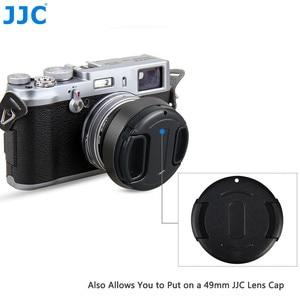 Image 5 - JJC LH X100 AR X100 מתכת עדשת הוד שמש צל עם 49mm מסנן מתאם טבעת עבור פוג י Fujifilm X100V X100F X100T x100S X100 X70