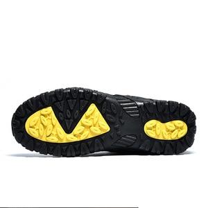 Image 4 - Мужские уличные ботинки SUROM, теплые водонепроницаемые Нескользящие Зимние ботильоны с толстой плюшевой и резиновой подошвой, рабочая безопасная зимняя обувь, 2019