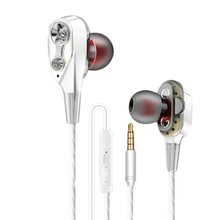 Eorv3s  Wired earphone High bass dual drive stereo In-Ear Earphones With Microphone Computer earbuds For Cell phone joyroom 3 5mm wired earbuds earphones in ear for xiaomi samsung phone computer in ear sport earphones with microphone stereo