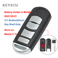 Чехол Keyecu для дистанционного ключа 4 кнопки и аварийный ключ для Mazda 3 6 2014 2015 2016 2017 2018 SKE13D-01 FCC: WAZSKE13D01