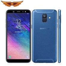 A600F Original Samsung Galaxy A6 (2018) 5,6 pulgadas Octa Core 3GB RAM 32GB ROM 4G LTE 16MP Cámara Dual SIM desbloqueado teléfono móvil
