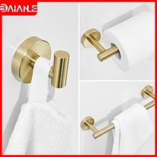Towel Bar Set Gold Stainless Steel Towel Rack Hanging Holder Bathroom Hook for Towels Coat Rack Wall Mounted Toilet Paper Holder стоимость