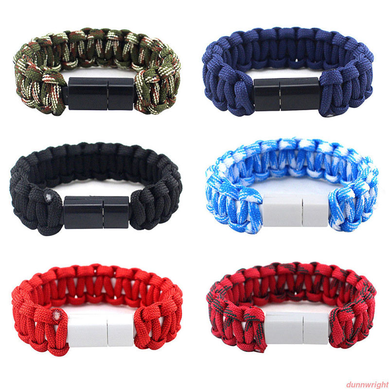 Outdoor USB Charging Bracelet Micro USB Bracelet USB C Charger Data Charging Cable Sync Cord For iPhone 11 Pro MAX XS Phone Cord