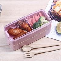 750ml Multi layer Portable Bento Lunch Box Leak proof Food Storage Container Lunch Boxes Home & Garden -