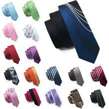 Модный тонкий галстук, черный, пэчворк, коричневый, обтягивающий, узкий, Шелковый, жаккардовый, тканые галстуки для мужчин, для свадебной вечеринки, для жениха, HH-121