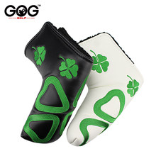 New golf putter cover headcover lucky grass PU cover For Blade Golf Putter High Quality White Black golf club 2 colors(China)
