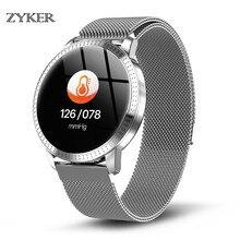 ZYKER Luxury Smart watch Color Screen waterproof Tempered glass Activity Fitness tracker Heart rate monitor Men women smartwatch