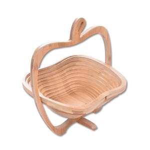 Storage-Basket Expandable Bamboo-Frame Fruit Basket-Shaped