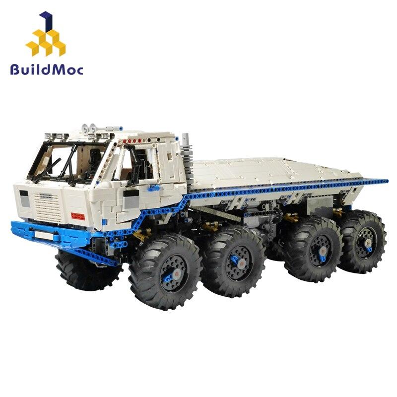 BulidMOC Tatra T813 8x8 PROFA  Engineering Car Tractor Toy Dump Truck Model Classic Toy Car Children Toys Engineering Vehicle