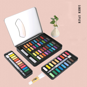12/18/24/36 Color Solid Watercolor Paint Pigment Set Children Drawing with Brush Student Hand-painted  Painting Art Supplies watercolor pigment set 36 color watercolor paint student hand painted portable painting set iron box water color art supplies