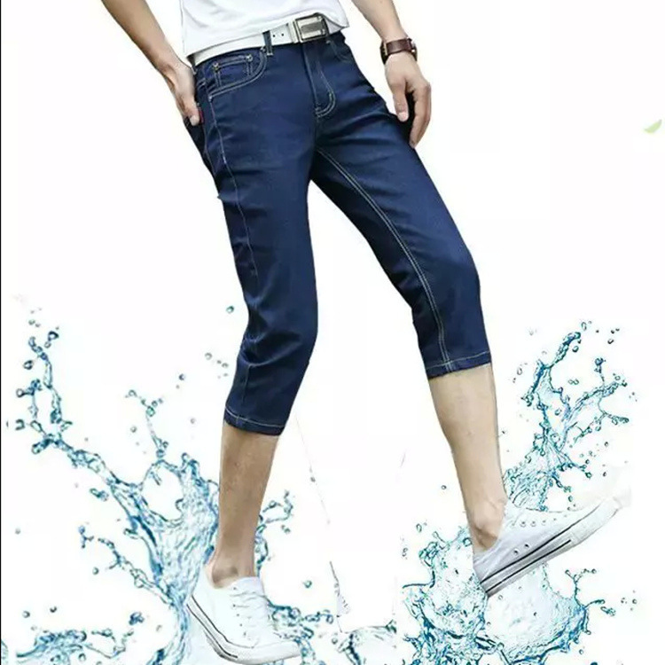 2018 Jeans Men's Summer New Style Korean-style Capri Pants MEN'S Jeans Capris Youth Popularity Men'S Wear