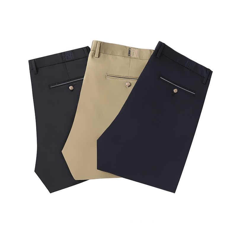 ขนาดใหญ่ 46 48 50 52 Mens กางเกงฤดูหนาว 2019 ใหม่ขนแกะหนาอุ่นสบายๆกางเกงฟรีความยืดหยุ่นชายกางเกง
