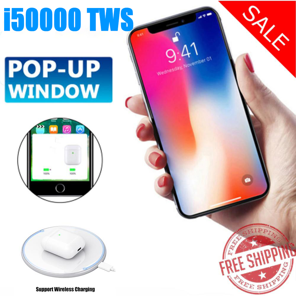 i50000 <font><b>TWS</b></font> second generations Replica 1:1 Wireless Earphone 8D Super Bass pk i2000 i3000 i800 i100 i500 <font><b>i9999</b></font> for all smartphone image