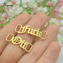 Shoes-Accessories Stainless-Steel Custom Jewelry Nameplate English-Letter Old Personalized