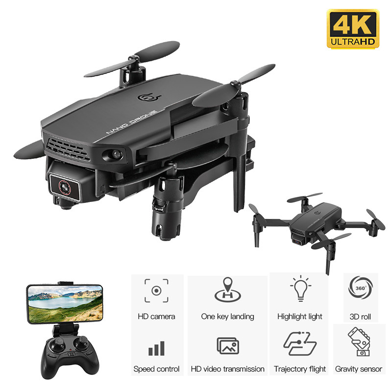 Best Mini Drone with 4K Camera HD Foldable Drones One-Key Return FPV Quadcopter Follow Me RC Helicopter Quadrocopter Kid s Toys