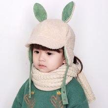 Новая детская шапка с защитой ушей зимняя теплая из ягненка
