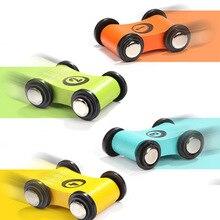 2 יח\סט לילדים מעץ שקופיות רכב עגלת מסלול שקופיות רכב אינרציה למשוך בחזרה דאון צעצוע מיני מכונית תינוק ילד צעצועים חינוכיים