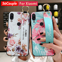 SoCouple Polsband Case Voor Redmi Note 8 Pro 5 5A 6 7Pro 4X K20 Pro Case Voor Xiaomi 8 9T 6X CC9 A3 Lite TPU Telefoon Houder Case(China)