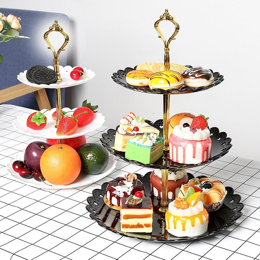 1:12 Dollhouse Miniature Metal Dessert Food Fruit Cake Bake Display Rack Tray ^