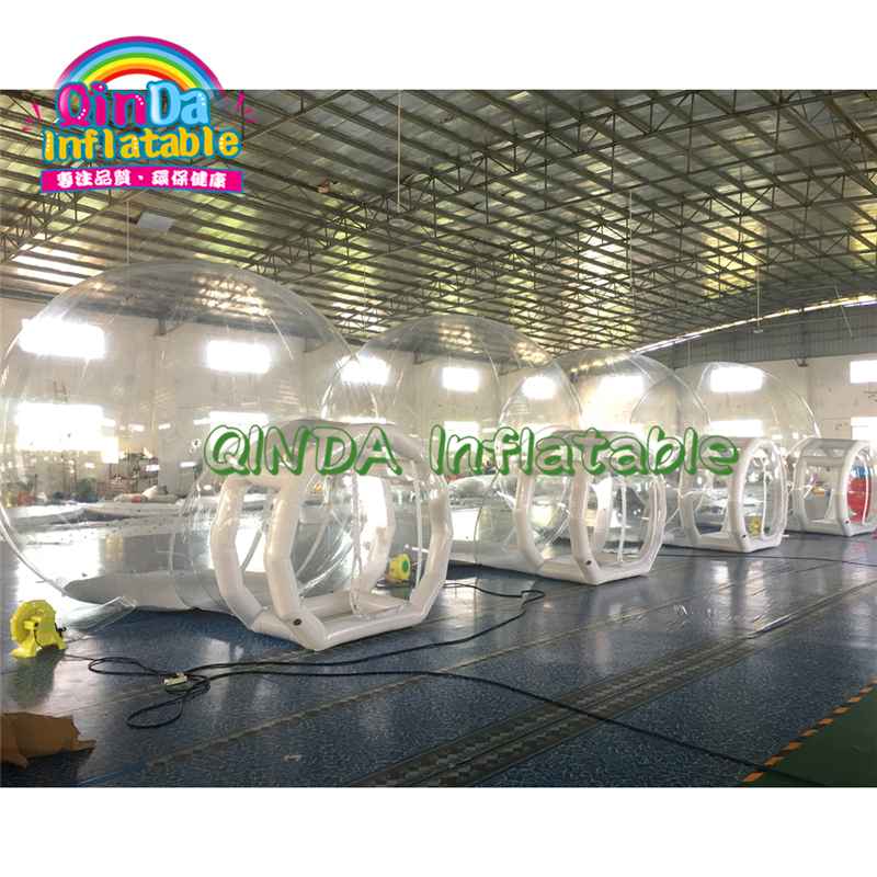 Outdoor Inflatable Crystal Bubble Tent / Inflatable Transparent Bubble Tent House/ Inflatable Hotel Bubble Lodge Tent For Sale
