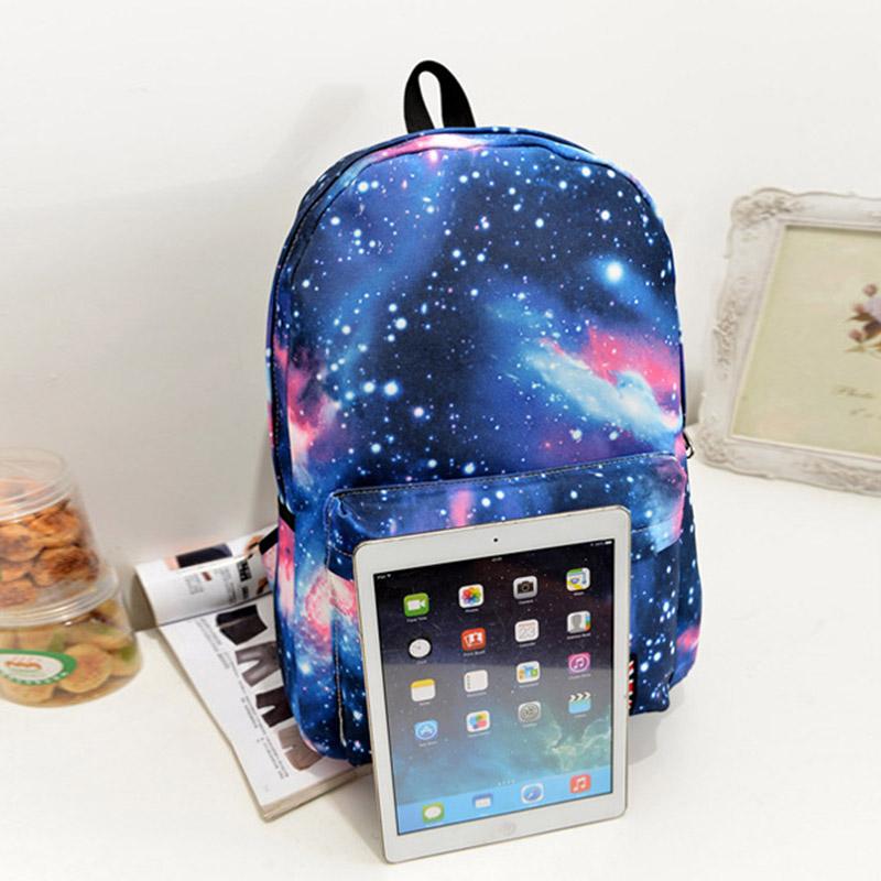Shoulder-Bag Travel-Backpack Casual Women Zipper Starry-Sky Printing Korean