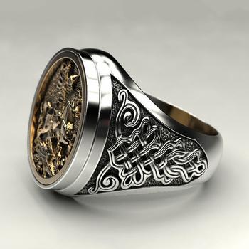2020 Hot Punk fajne męskie palec serdeczny dwukolorowy złoty Metal rzymski żołnierz Malone pierścień biżuteria Vintage rycerz pierścienie starożytne tanie i dobre opinie POFUNUO Ze stopu cynku Mężczyźni Archiwalne Zestawy dla nowożeńców Zwierząt none Wszystko kompatybilny decoration