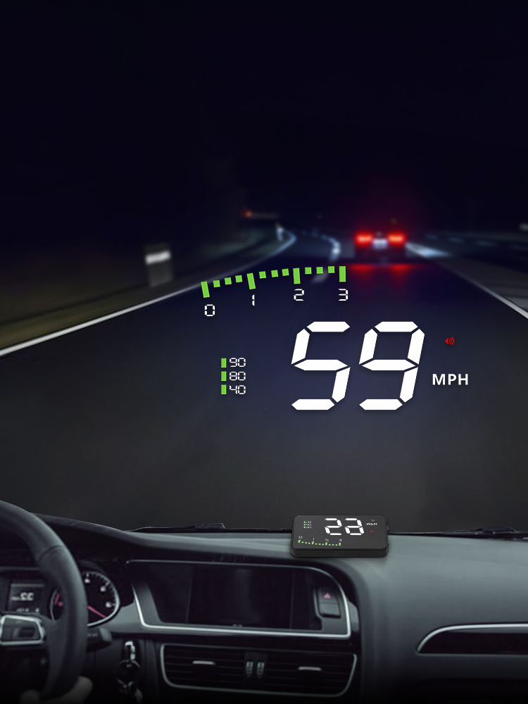 Alarm-System HUD Windshield-Projector Head-Up display Overspeed Universal Warning Car-Styling