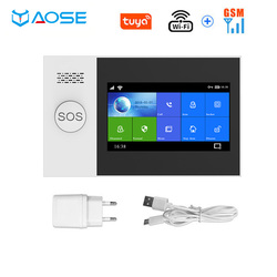 WIFI GSM Wireless Home Security Alarm System 4.3 Inch Screen TUYA App Remote Control Gift SOS Emergency Button House Alarm Kit