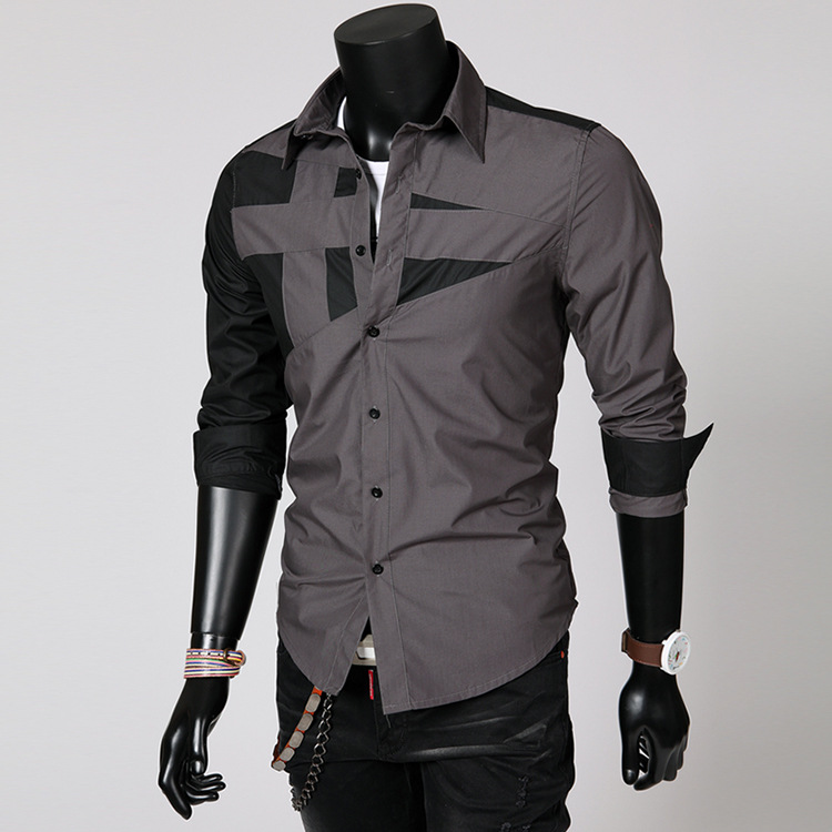 Jeansian Spring Autumn Features Shirts Men Casual Jeans Shirt New Arrival Long Sleeve Casual Slim Fit Male Shirts Z030