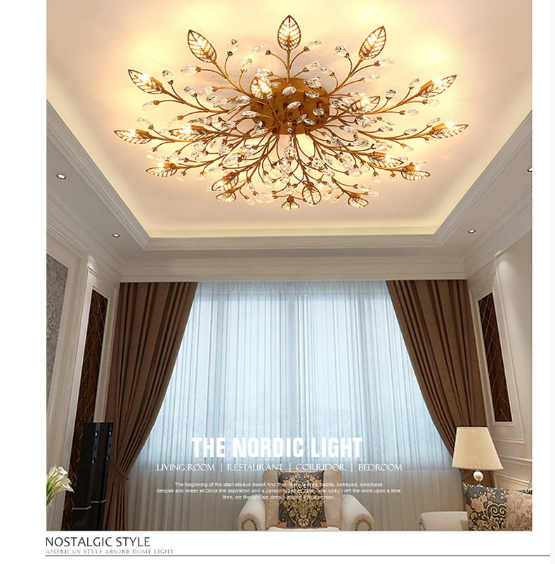 H4341dc50a2574824aa3d0bcefb9c3ed2u Modern ceiling light for living room led Crystal ceiling lamp bedroom crystal lamps dining gold loft lighting Crystal Fixtures