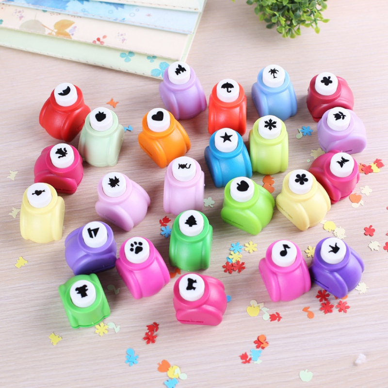 20 Style DIY Toy Scrapbook Punches Handmade Cutter Card Craft Calico Printing Flower Paper Craft Punch Hole Puncher Embosser Toy