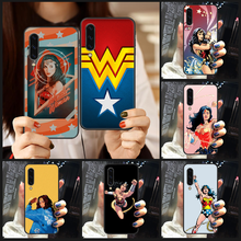 Woman DC Wonder Phone Case Cover For Samsung Galaxy A10 A20 A30 E A40 A50 A51 A70 A71 J 5 6 7 8 S black Etui luxury bumper