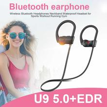 Newest High Quality Wireless Bluetooth Headphones Neckband Waterproof Headset For Sports Workout Running Gym