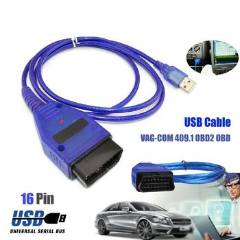 Car OBD2 USB VAG-COM KKL 409.1 Interface Cable Automobile For VW Scanner Tool Interface Scan Cable Diagnostic Aut V9A8 image