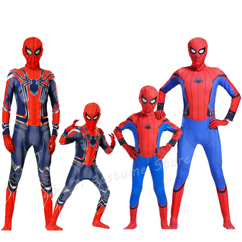 Halloween Costume For Kids Spider Man Homecoming Spiderman Iron Spider Costume 3d Adult Suit Cosplay Children Superhero Costume