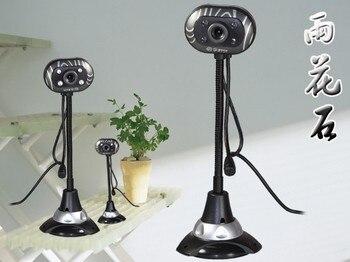 Angala Tian USB микрофон Настольный HD веб-камера Веб-камера Встроенный ночной светодиодный светильник для компьютера ПК ноутбук Запись видео/звонок
