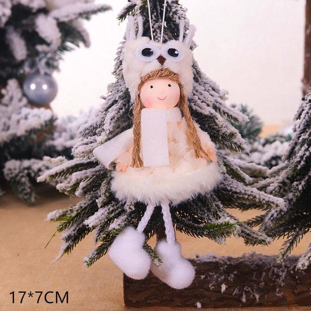 New Year 2020 Cute Santa Claus/Snowman/Angel Christmas Dolls Noel Christmas Tree Decoration for Home Xmas Navidad 2019 Kids Gift 185